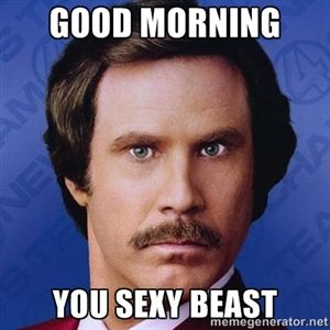 GOOD MORNING YOU SEXY BEAST | Ron Burgundy