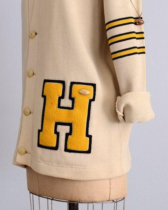 vintage 1950s varsity letter sweater 50s by PickledVintage ...