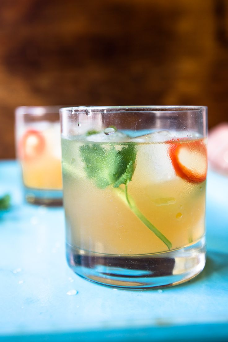 Cool muddled cilantro balances the heat from fresh chile in a sweet-spicy refresher from Miami's Soho Beach House.