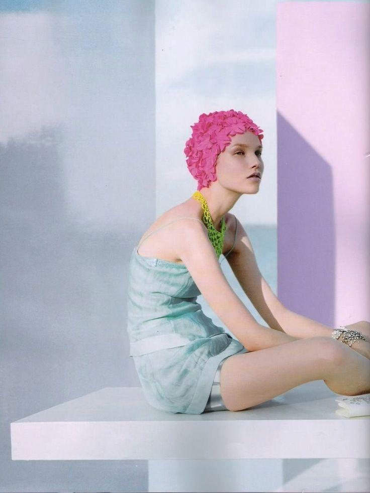 Suvi Koponen by Javier Vallhonrat in Vogue UK February 2008.