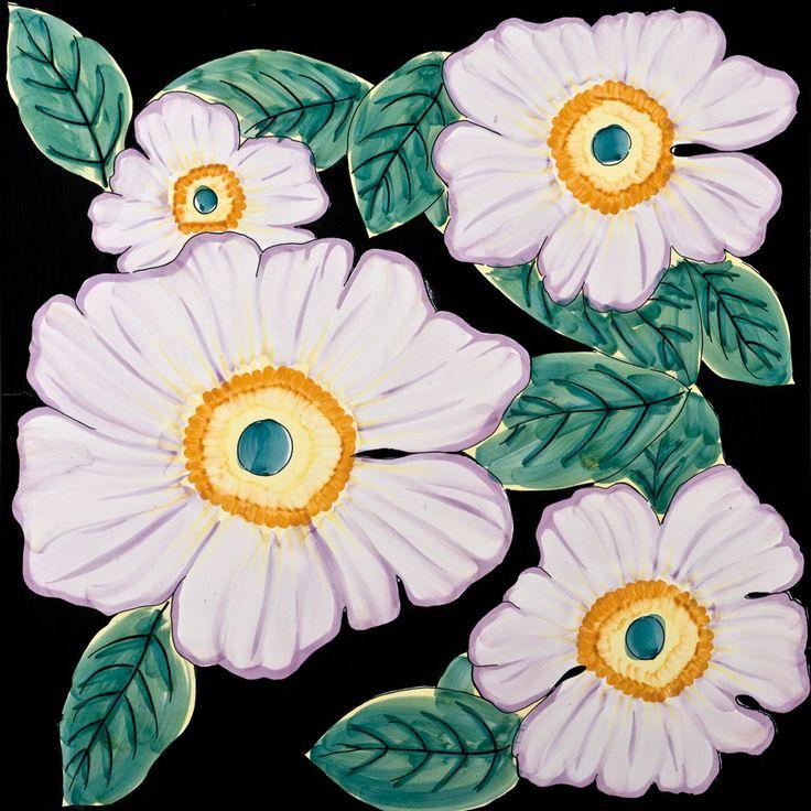"""Fiori Grandi"" (Big Flowers) from Francesco De Maio #madeinitaly #ceramic #tile"
