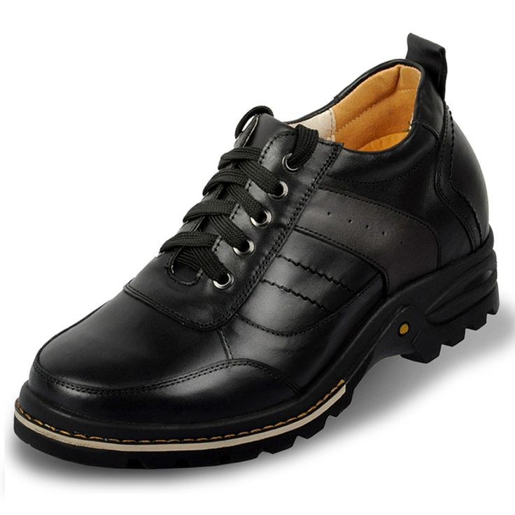 Black  height increase exercises 9cm / 3.54inch with the SKU:MENXJD_2030-2 - mens genuine leather height increasing elevator casual shoes grow 9 cm / 3.54 inch
