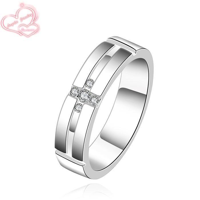 Кольца посеребренные кольца щепка изысканный современные женщины мода симпатичный кольцо когда бы LSR560