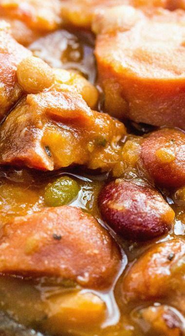 Cajun Ham and Sausage Bean Soup
