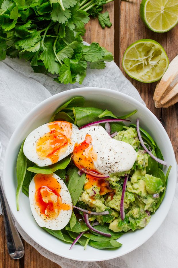 Guacamole and Egg Bowl