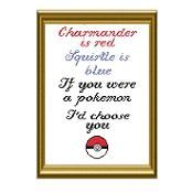 Pokemon Poem Cross Stitch - via @Craftsy