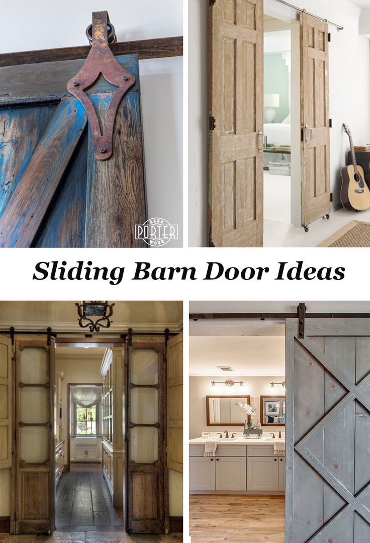 Lots of ideas for sliding barn doors and door hardware!
