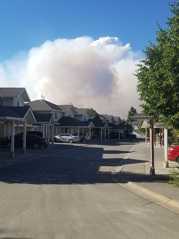 Huge smoke over 100 mile house B.C during Gustafson wildfire, B.C.wildfires 2017