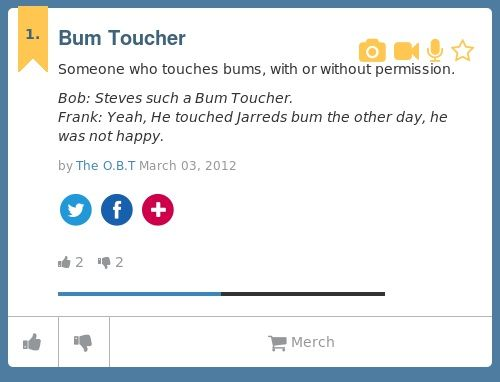 urban dictionary bum touchers