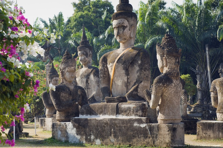Image detail for -Buddha statue in Buddha park, Laos