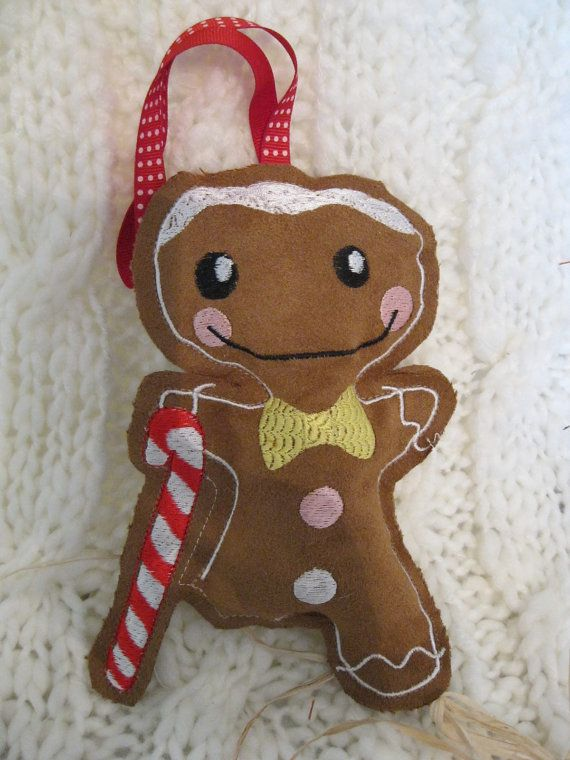 CLEARANCE Sale on Gingerbread Dude with Cane by BrambleWoodANDivy