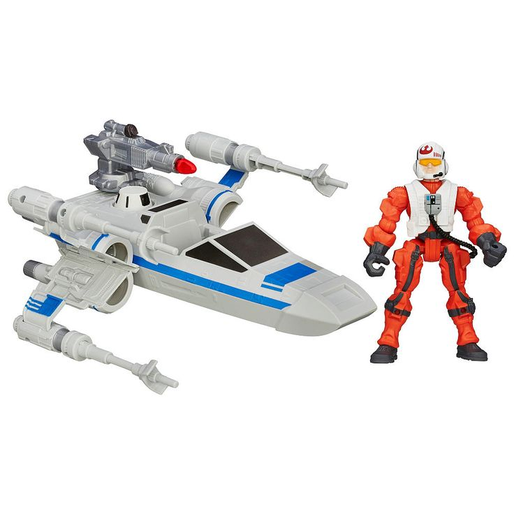 Enter a galaxy of adventure and imagination with Star Wars Hero Mashers toys! This incredible saga of good versus evil in a galaxy far, far away includes some of the greatest heroes and villains of all time. Recreate exciting scenes from the films, television series, books and games with the action figures and vehicles. This Star Wars Hero Mashers set includes a converting Resistance X-Wing with projectile launcher and Resistance Pilot.<br><br>Star Wars products are produced by Hasbro under…