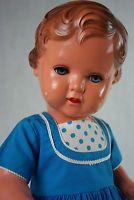 Schildkröt Puppe Erika 49cm alt antik 50er Jahre Celluloid Zelluloid