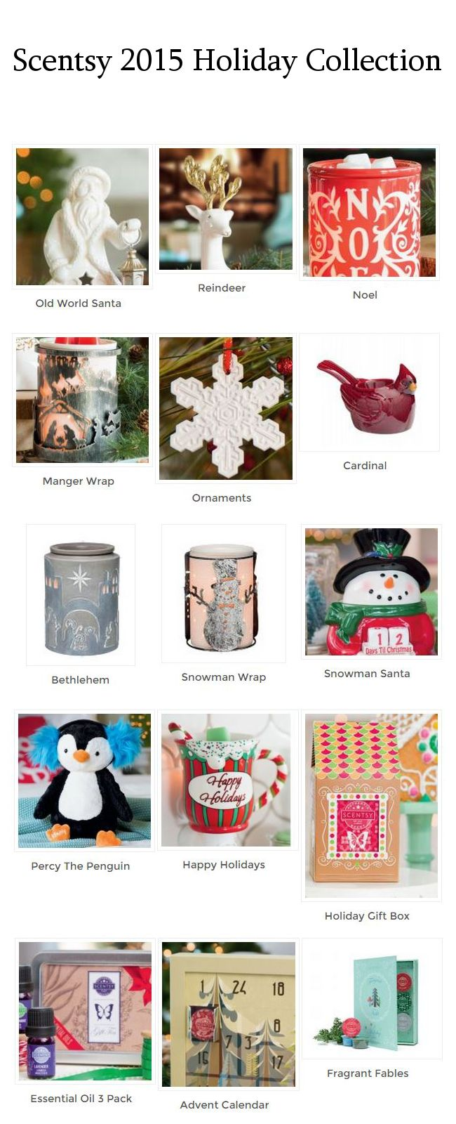 Scentsy Christmas Warmers 2015 Tracy's Scentsy, http://doak.scentsy.us