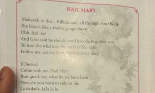 Churchgoers in Sri Lanka open hymn books to find explicit lyrics to Tupac song   Daily Mail Online