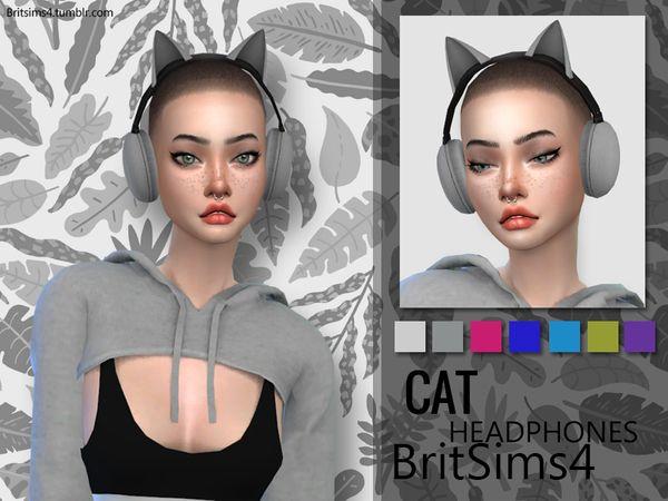 Dibellaa S Britsims Cat Ears Headphones Sims 4 Cat Headphones
