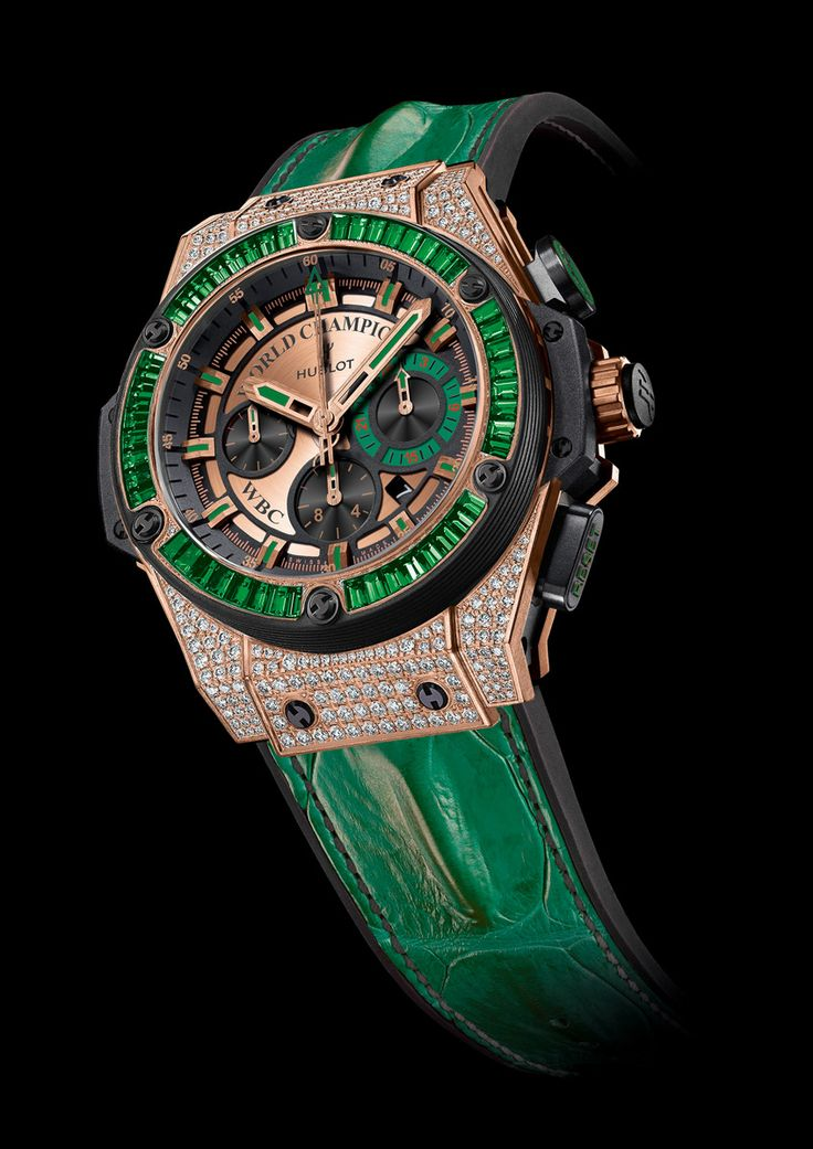 Floyd Mayweather receives a Hublot King Power WBC Full Pavé timepiece