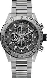 TAG Heuer Carrera Calibre HEUER 01 Chronograph 100 M - 45 mm Grey Phantom Titanium CAR2A8A.BF0707 TAG Heuer watch price