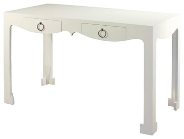 Bungalow 5 jacqui console desk in white asian desks id for Bungalow 5 desk