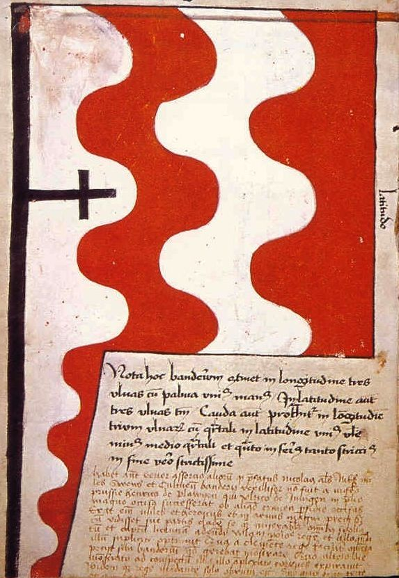 "f°5v, Banner of Chelm (Kulm) town -- ""Banderia Prutenorum"", by Jan Dlugosz, 1410"