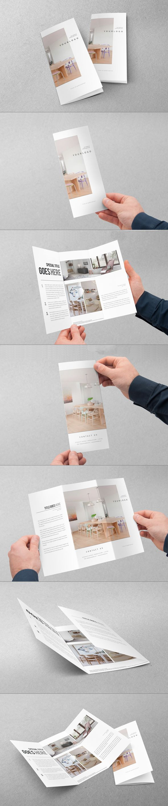 Minimal Interior Design Trifold. Download here: http:∕∕graphicriver.net∕item∕minimal-interior-design-trifold∕8989296?ref=abradesign #design #brochure #trifold