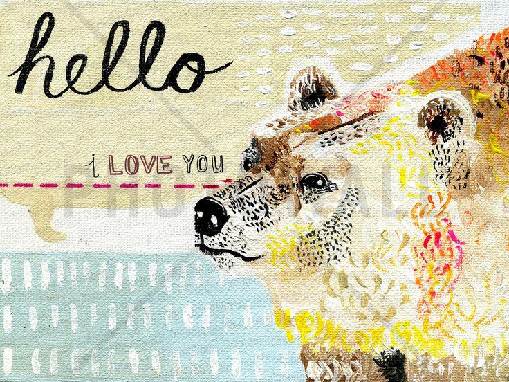 Hello I Love You - Wall Mural & Photo Wallpaper - Photowall