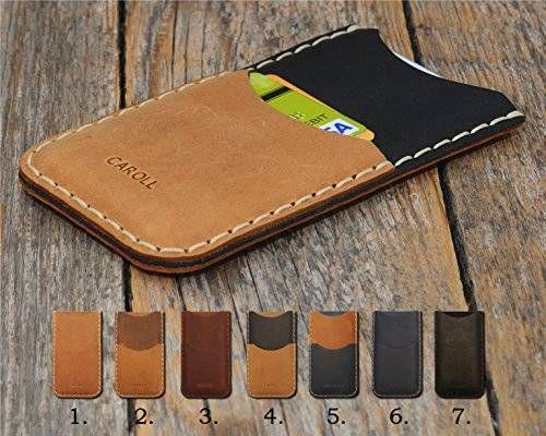 Cover per Motorola Personalizzata Portafogli con taschino per carta di credito Pelle bovina Cover in pelle Portacellulare con monogramma del tuo nome o iniziali