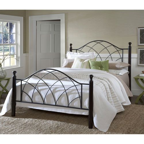 Vista Silver Twin Complete Bed With Rails | Camas, Plata y Gemelo