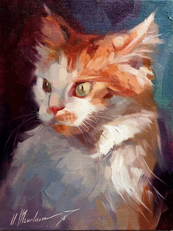 Custom Pet Portrait Custom Cat Painting Cat Portrait Cat Lover