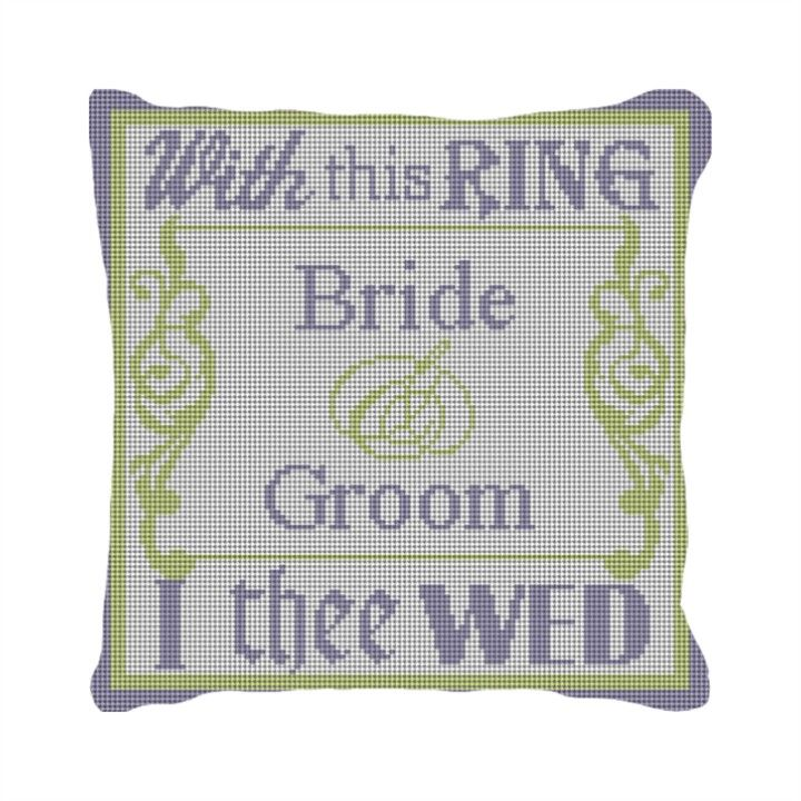 With This Ring Personalized Needlepoint Needle Point