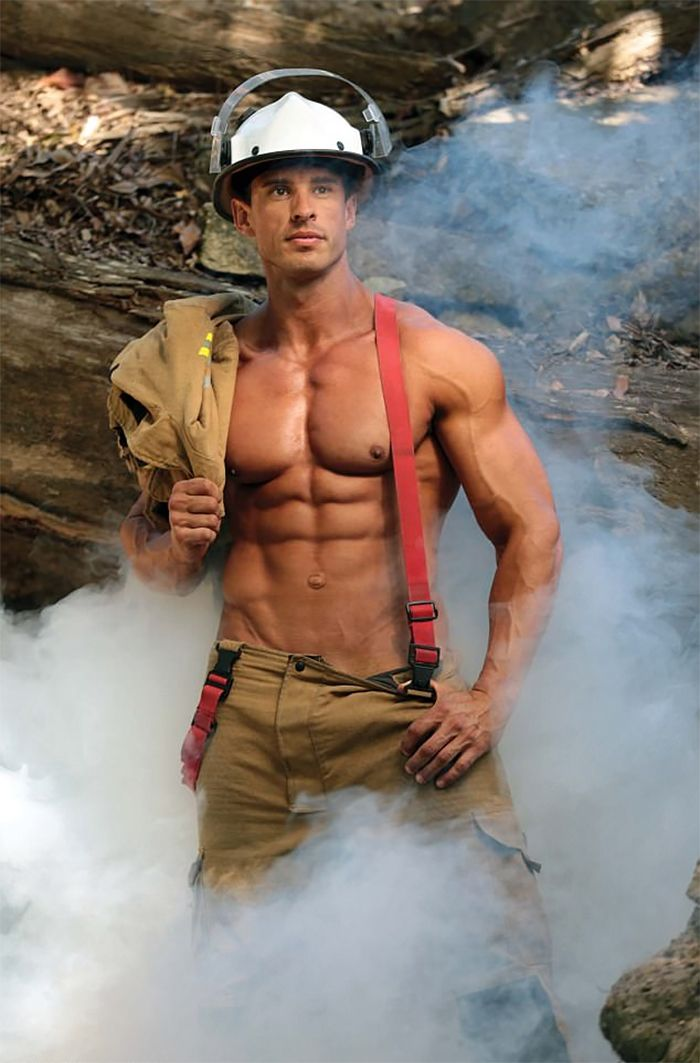 Firefighters Grin, Bare It For Calendar