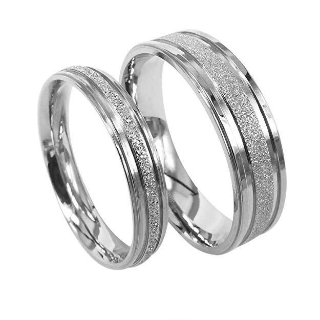 Everstone Titanium Engagement Ring Sets Couple Wedding Rings
