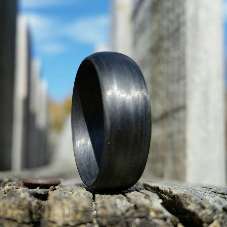 Carbon Fiber Legacy Collection Ring by CoreCarbonRings on Etsy
