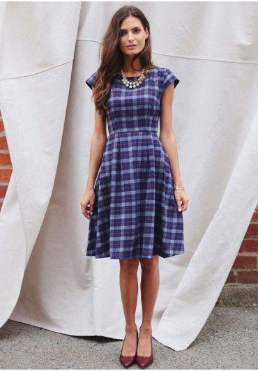 Devonshire Plaid Dress By Mata Traders | Modern Vintage Dresses | Modern Vintage Clothing | Ruche