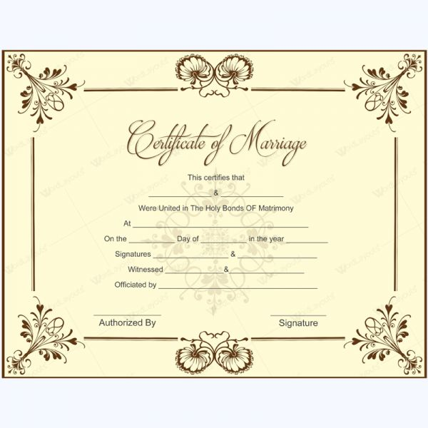 Marriage Certificate 05 Pinterest Wedding certificate, Microsoft - Certification Document Template