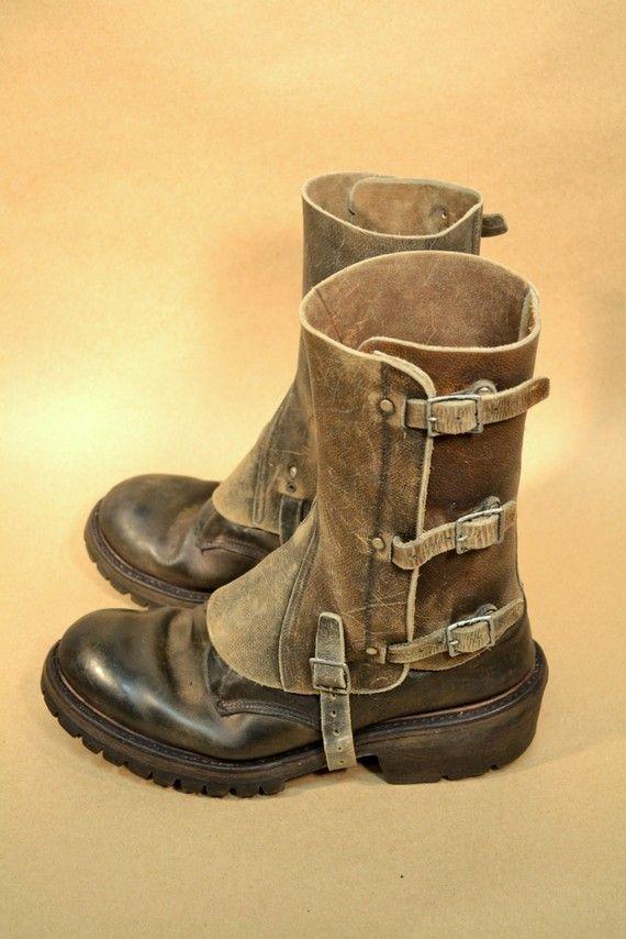VENTA hombres de cuero botines 05 botas no por MetropolisNYCVintage