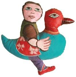MIRKA MORA Girl Riding Bird