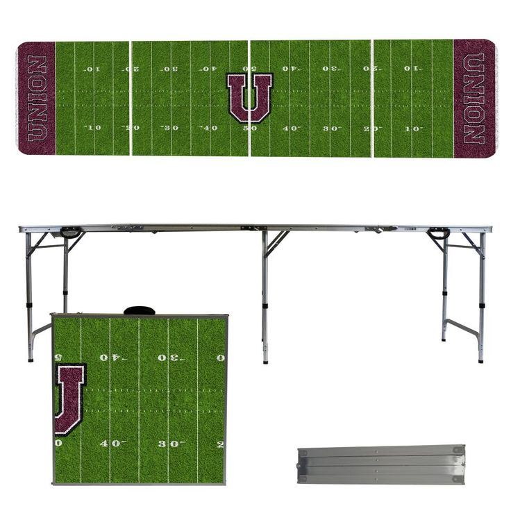 Union College Dutch 8 Foot Portable Tailgate and Pong Table