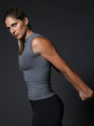 Gabby Reece - professional volleyball player, model.... She is such a bad ass. Loved her since the 90's. Her hubby's pretty awesome too!