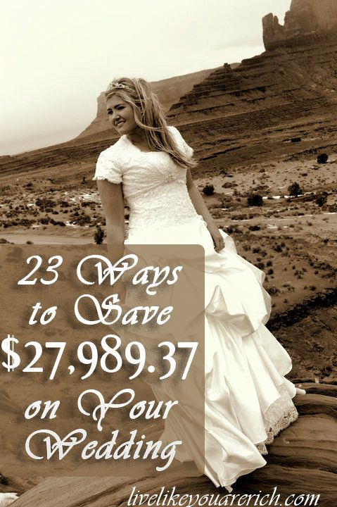 23 Ways to Save $27,989.37 on Your Wedding