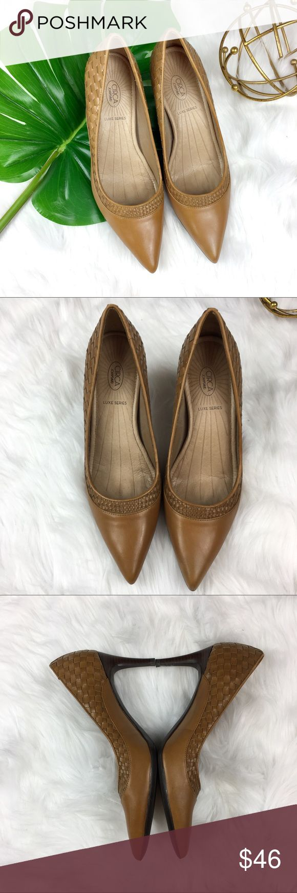 Circa Joan & David Leather Weave Heels Circa Joan & David Lux Series leather weave point toe heels. Size 7 1/2. Pre-owned condition with no major flaws. No box included.  ❌I do not Trade 🙅🏻 Or model💲 Posh Transactions ONLY Circa Joan & David Shoes Heels