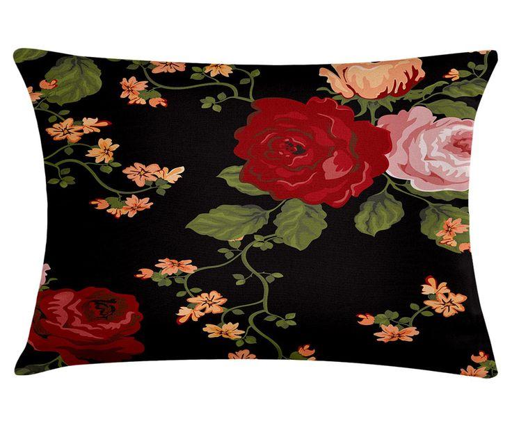Capa para almofada O Galho das Rosas - 50x30cm | Westwing - Casa & Decoração