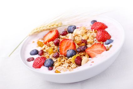 This low fat muesli recipe contains no added fat, and it's an excellent source of thiamin, iron, zinc and potassium. Get the recipe here.