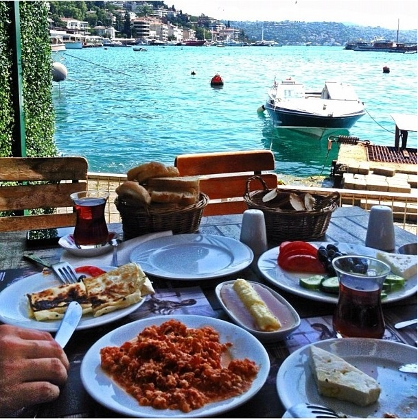 Breakfast at Bebek, Istanbul.