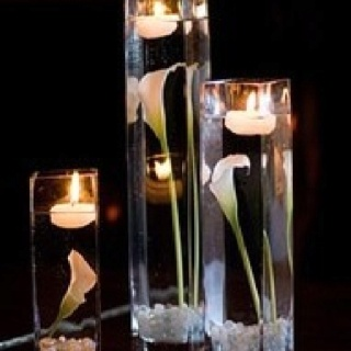 Great inexpensive idea for a wedding reception or dinner party