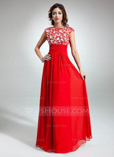 Holiday Dresses - $160.49 - A-Line/Princess Scoop Neck Floor-Length Chiffon Holiday Dress With Ruffle Lace (020032261) http://jjshouse.com/A-Line-Princess-Scoop-Neck-Floor-Length-Chiffon-Holiday-Dress-With-Ruffle-Lace-020032261-g32261 (www.jjshouse.com)