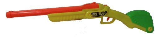 Double Shot Rifle w/ 6 darts & 4 shells by Buzz Bee. $19.94. Automatic ejection of shells. Easy loading mechanism. It has double barrel. It also includes 4 shells. It contains 6 foam darts. From the Manufacturer                Double barrel dart blasting. Easy loading.Automatic ejecting shells.Secret storage compartment includes 6 foam darts and w shells.                                    Product Description                 Buzz Bee Double Shot Rifle  Buzz Be...