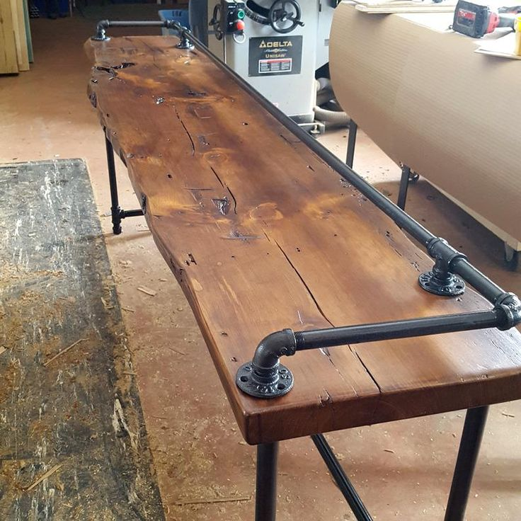 Best Drink Rail Table Reclaimed Wood Bar Natural Live Edge Furniture Custom Sizes And Finishes 640 x 480