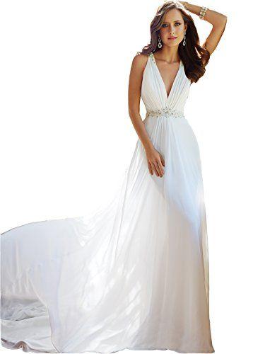 Chic Irenwedding Women s Beading Neckline Sheer Lace Beaded Back Beach  Wedding Dress online.   139.99  allfashiondress from top store 8948f74c8b
