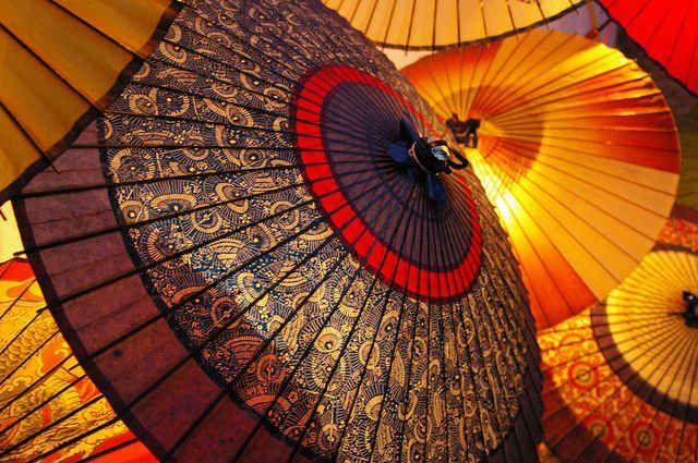 和傘のオブジェ2の画像(写真)
